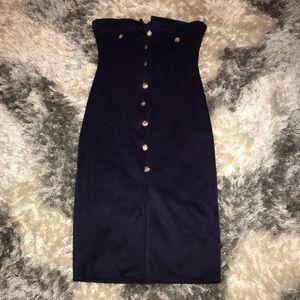 Dresses & Skirts - Navy strapless dress